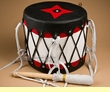 "Tigua Pueblo Ceremonial Drum 11.5""x11"" -Midnight Star"