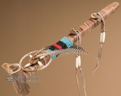 "Pueblo Indian Antler Peace Pipe 14"" (p5)"