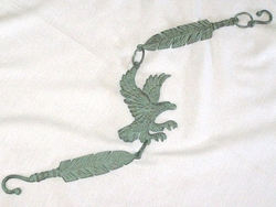 "Iron Art Cast Garden/Patio Hanger 29"" -Eagle Feather"