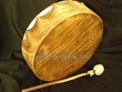 Native American Cherokee Buffalo Hand Drum 12""