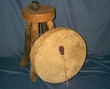 Native American Tarahumara Indian Hand Drum 22""