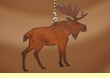 Western Metal Chain Pull -Moose  (4)