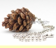 """Rustic Ceiling Fan Chain Pull 1.5"""" -Pine Cone   (6)"""