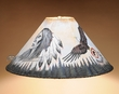 "Southwest Painted Leather Lamp Shade 20"" -Eagle  (PL70)"