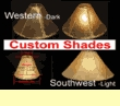 Custom Rawhide Lamp Shades