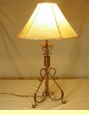 Wrought Iron Western Lamps with Rawhide Lamp Shades