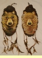 Pair Painted Log Wall Plaques -Spirit Bear