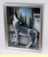 Southwestern Art Shadow Box 11x14  -Wolf  (sb12)