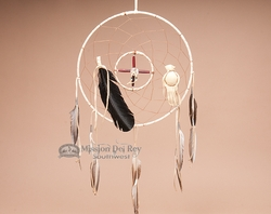 "Navajo Medicine Wheel Dream Catcher 12"" -Cream  (d3)"