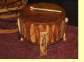 "Tarahumara Indian Cedar Pow Wow Drum 22""x12"""