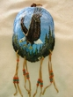 "Painted Turtle Shell Wall Hanging 5""x7"" -Eagles   (36)"