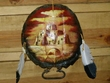 Painted Turtle Shell Wall Hanging -Pueblo (2)