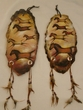 Pair Painted Log Wall Plaques -Cave Art Horses
