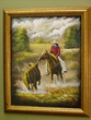"Hand Painted Western Art 19""x23"" -Round Up   (5)"