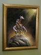 "Hand Painted Western Art 19""x23"" -Indian Offering  (1)"