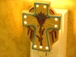 Southwest American Indian Sand Painting Night Light -Cross (2)