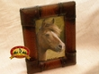 Rustic Western Faux Leather Picture Frame 4x6  (12-1050)