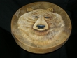 "Native American Painted Drum 16"" -Bear   (pd30)"