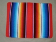 Southwest Pillow Cover -Serape Red