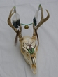 Painted Deer Skull Wall Hanging -Clearance