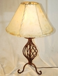 "Southwestern Wrought Iron Table Lamp 23"" -Clearance  (TL2)"