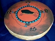 "Painted Tarahumara Drum 22"" -Buffalo"