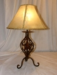 "Southwestern Wrought Iron Table Lamp 22"" -Clearance  (TL11)"