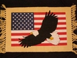 Fringed Western Placemat -Flag Closeout