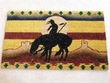 "Classic Southwestern Door Mat -End of the trail 18""x30"""
