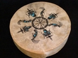 Painted Drum -Tigua Indian Kokopelli & Warrior 12""