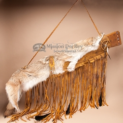 Native American Coyote Pelt Rifle Case -Deer Skin