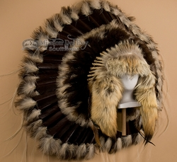 Native American Coyote Halo Headdress -Navajo