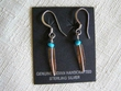 Southwest Sterling Silver Navajo Earrings -Feathers (82)