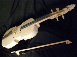 Native Tarahumara Violin -Rooster Scroll