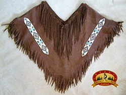 Pueblo Indian Deer Skin Dance Shirt -Brown (1)