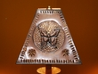 "Rustic Metal Punched Tin Lamp Shade 9.5"" -Butterfly  (TS3)"