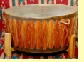 Tarahumara Cedar Pow Wow Drum & Base 42x18