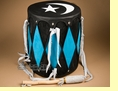 "Pueblo Indian Ceremonial Drum 15""x15.5"" -Evening Ceremony"
