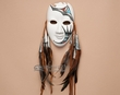 "Native American Pottery Mask 7.5"" -Tigua Indian  (nap426)"