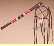 "Beaded Native American Tigua Indian Talking Stick 16"" -TS15"