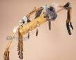Native American Shell Sash Bow & Fox Quiver -Navajo  (ba4)