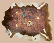 Southwestern Cowhide Wall Hanging 87x68 -Native (61)