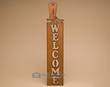 Rustic Metal Western Welcome Sign -Cowboy Boot  (w24)