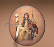 Hand Painted Wall Plaque -Indian Warrior (1)
