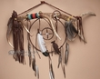 "Elk Medicine Antler Dream Catcher 30"" -Tigua Indian"