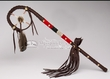 "Native American Leather Medicine Staff 24"" -Tigua Indian"
