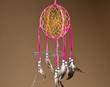 "Native American 3D Navajo Dream Catcher 6"" -Pink  (6-31)"