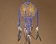 "Native American 3D Navajo Dream Catcher 6"" -Blue  (6-34)"