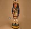 Hand Carved Wooden Cigar Store Indian 31""