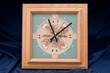 Native American Sand Painting Oak Clock -Navajo   (1)